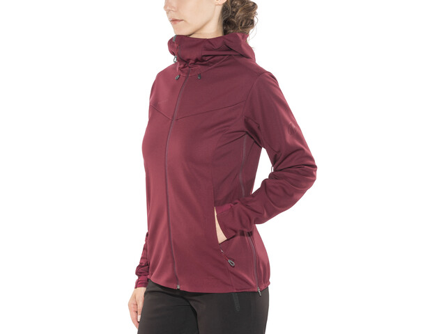 Mammut Ultimate V Veste SO à capuche Femme, merlot-barberry melange